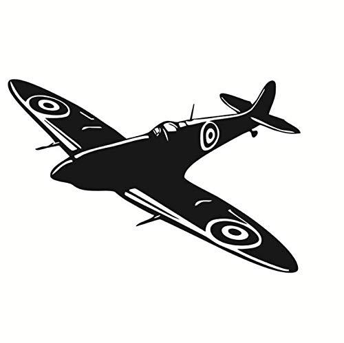 Chi Wall Sticker Precio De Fábrica De Dibujos Animados Decoración De Pared Fighter Spitfire Nursery Kids Dormitorio Vinilo Removible Decoración del Hogar Pegatinas De Pared 59 * 39 Cm