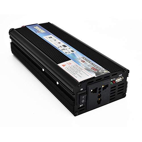 QXYOGO Inversor Inversor del Coche 12v Cargador de Coche 220v 2000W de Potencia del inversor de Voltaje de CC a CA 12V a 220V Coche Convertidor con USB 5 (Color Name : 24v to 220v)