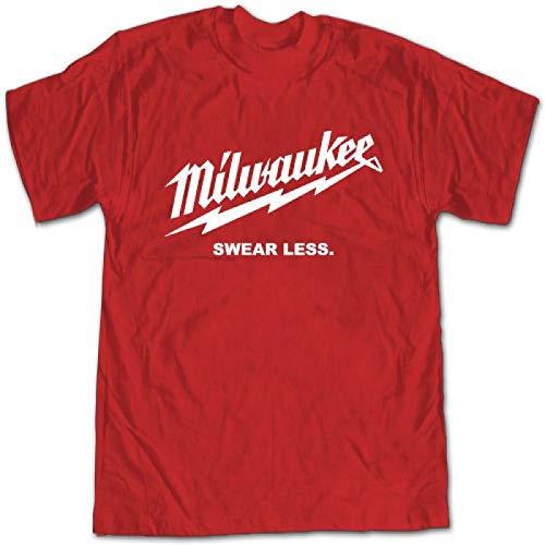 Nieuwe Milwaukee Zweer Minder Gereedschap Grappige mannen T-Shirt Street Wear