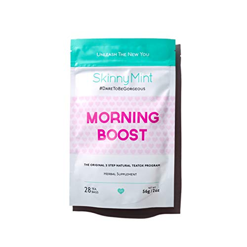 SkinnyMint Morning Boost Teatox. All-Natural and Effective Detox Tea. Boost Energy and Support Weight-Loss Goals.
