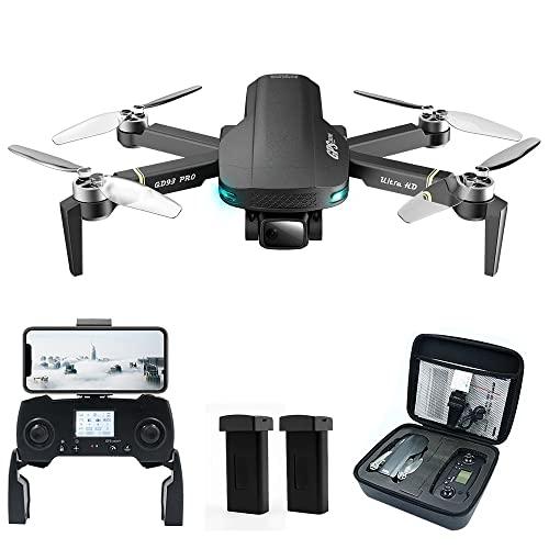 YINHA 6k Uhd. Drone con Fotocamera, 5g WiFi FPV, GPS+ Posizionamento del Flusso Ottico, Rc. Quadcopter, 2 Batterie 56 Minuti Tempo di Volo, Telecomando da 1000m, Motore Brushless