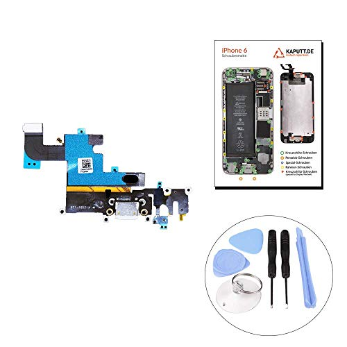 kaputt.de Dock Connector für iPhone 6 LADEBUCHSE   MIKROFON   KOPFHÖRER-BUCHSE Platine inkl. DIY Reparatur-Set