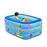 YANFEI Aufblasbarer Swimmingpool von YANFEI, Kinderheimbad, übergroßes Badebecken-Baby-Ozean-Ball-Pool, 4 Größen (größe : 130 * 85 * 55)