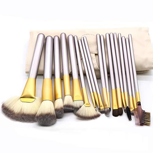 Sunsunshh Maquillage Outil Pinceau 18 Pièces Beige Beauté Set, 25x46cm