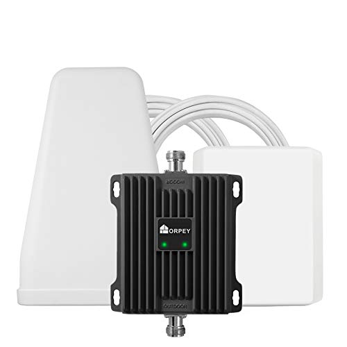 ORPEY Cell Phone Booster for Home or Office - Works with AT&T, Verizon and T-Mobile - Improve 4G LTE Data Rates and Volte