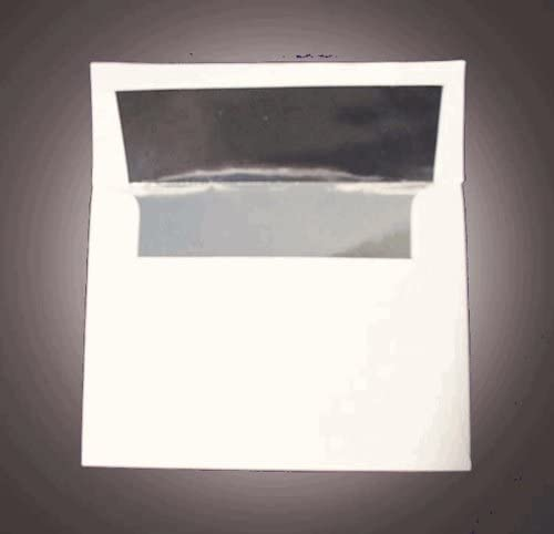A6 Invitation Envelope Shipping included overseas - Silver Foil 24# Lined x 3 4 White