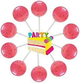 10ct. Birthday Cake Lollipop Bag (Birthday Cake)