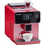 Oursson Kaffeevollautomat, Super automatisch, Keramik-mahlwerk, Farb-Touchscreen, Personalisierte Getränke, Doppeltassenbezug, 19 bar, Rot, AM6250/RD