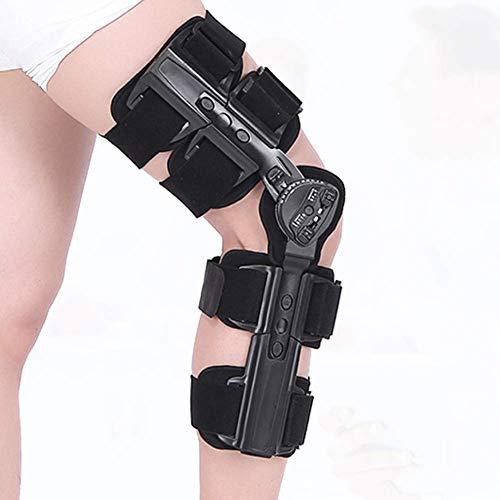 Rodillera con bisagras de ROM ajustable para rodilla post operación, protector de inmovilizador de ortesis, rodillera articulada para pierna izquierda y pierna derecha, tanto hombres como mujeres