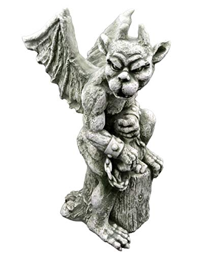 gartendekoparadies.de Massive Steinfigur Gargoyle der Herrscher Motiv II Torwächter aus Steinguss frostfest