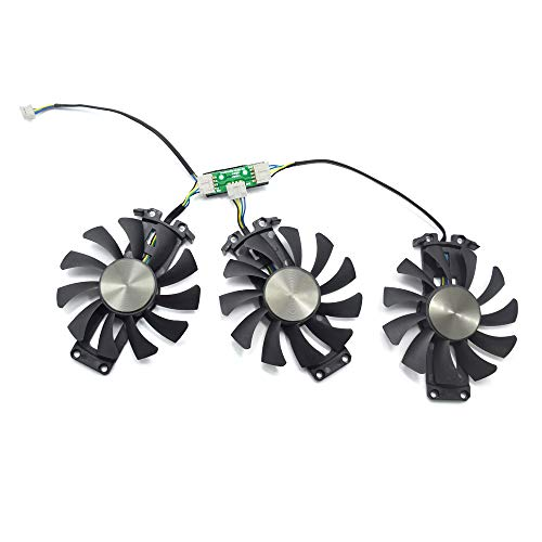 inRobert 75mm GA81S2U Grafikkartenlüfter Graphic Card Fan für ZOTAC GTX 970 AMP! Omega Core (ZT-90106-10P) Graphics Card Cooling Fans (Fan-ABC)