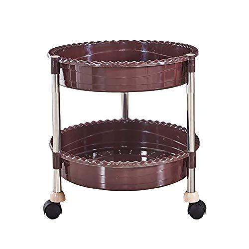 Allamp Sombrilla herramienta de la belleza del salón del balanceo de la carretilla con la rueda universal, móvil de múltiples capas de pelo que labra la compra, PP Carrito de almacenamiento bandeja de