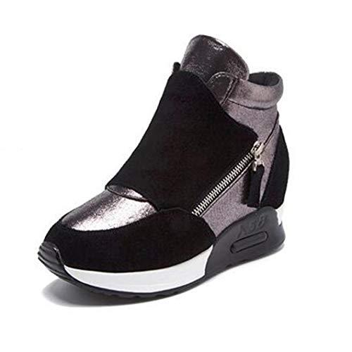 Dames Plateau Wedges Sneakers Hoge Top Verhoogde Interne Enkellaarzen Ademend Wandelen Casual Schoenen Gemengde Kleuren Dikke Sneakers