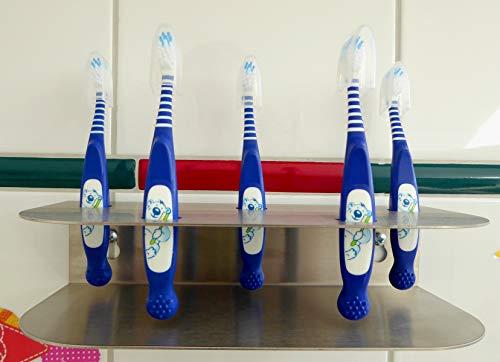 Zahnbürstenhalter Edelstahl für 5 Zahnbürsten