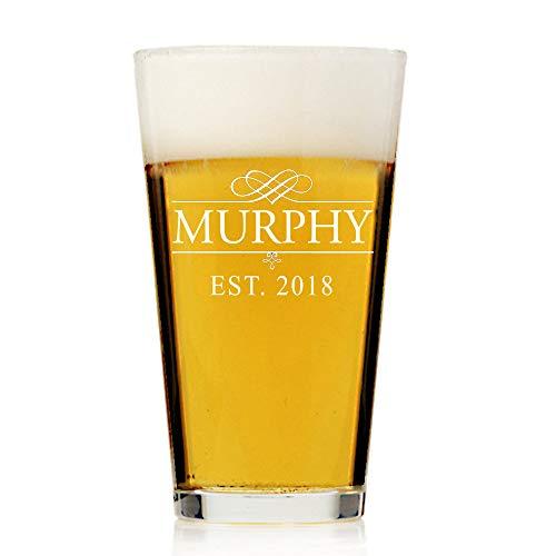 Aangepaste Gegraveerde Gepersonaliseerde Pint Bier Glas Gegraveerd Bierglas Gepersonaliseerd Bierglas Gegraveerde Pint Bier Groomsman Geschenken