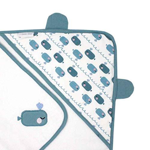 ZhongYeYuanDianZiKeJi Toalla beb/é capucha grande capa de ba/ño albornoz 90x90cm Suave algod/ón absorbente para Animales Sin mangas Algod/ón Albornoz Para Ni/ños Azul