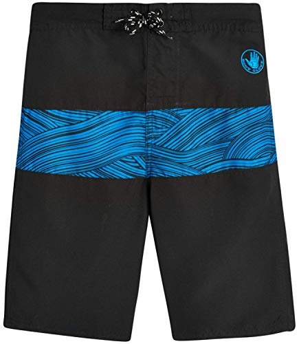 Body Glove Boys' Swim Trunks – UPF 50+ Quick-Dry Board Shorts Bathing Suit (Big Boys), Black/Blue, Size 8'