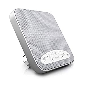 White Noise Machine, Portable Sleep High Fidelity Soothing Sound Machine Suitable for Home, Office, Travel, with 6 Soothing All-Natural Sounds Ideal for Baby