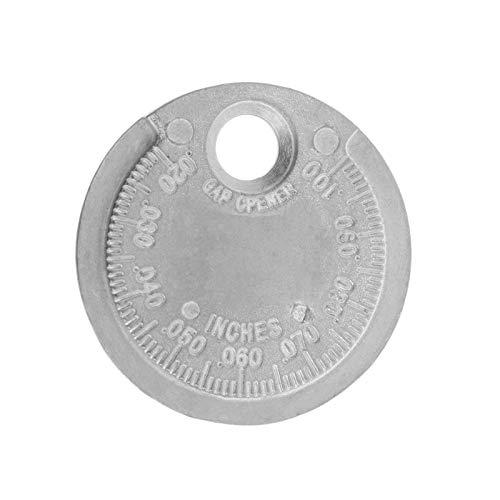 XZANTE Herramienta de Indicador de Intervalo de Bujía Medición Tipo de Moneda Rango de 0.6-2.4Mm Chispa - Enchufe Gage
