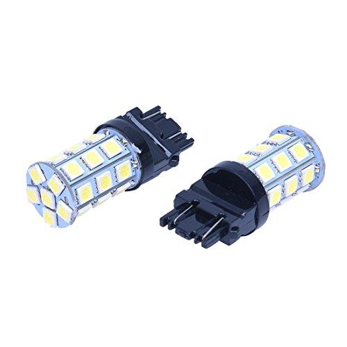 SODIAL 2x T25 W21/5W 3157 7443 Blanc XENON 5050 SMD 27 LED AMPOULE Lampe 12V VOITURE lumiere