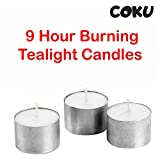 Coku Mega Candles Unscented White Jumbo Tea Lights Candle | Pressed Wax Candles