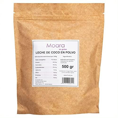 Leche de coco en polvo natural, sin gluten, sin azúcar y sin sal - Coconut milk powder - Producto vegano (500 gr)