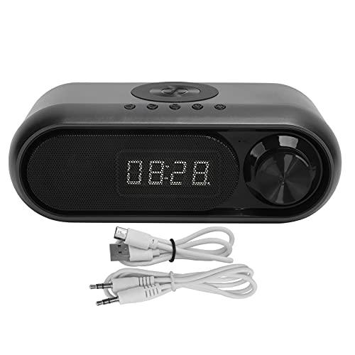 Sxhlseller Reducción de Ruido Inteligente portátil Carga inalámbrica Reloj Despertador Bluetooth Radio FM Multifuncional Altavoz de cabecera para el hogar