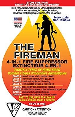 The Fireman Multi-Purpose Fire Extinguishing Suppressant Spray - 18 oz (2 Pack)