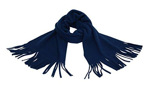 Écharpe Avec Franges dans la couleur bleu marine Matériau 100% polyester