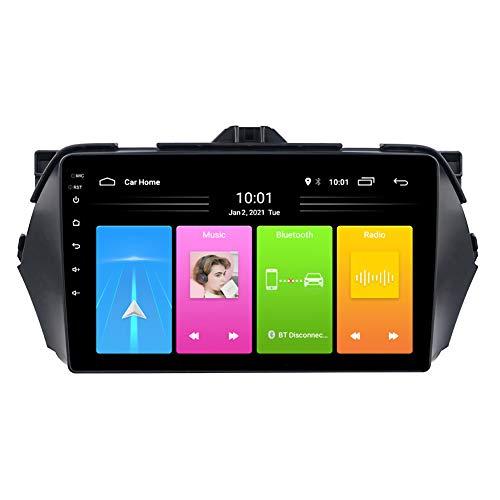 Kilcvt Coche Android 10 DVD Reproductor Multimedia Navegación GPS De 9 Pulgadas, para Suzuki Alivio/Ciaz 2014-2018 Soporte Control del Volante/Llamadas Manos Libres Bluetooth,WiFi: 1 16g