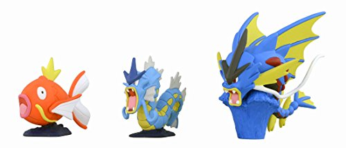 TAKARA TOMY TakaraTomy Pokemon XY Monster Collection Mega Evolution 5,1 cm Mega Gyarados Action Figur (3-teilig)