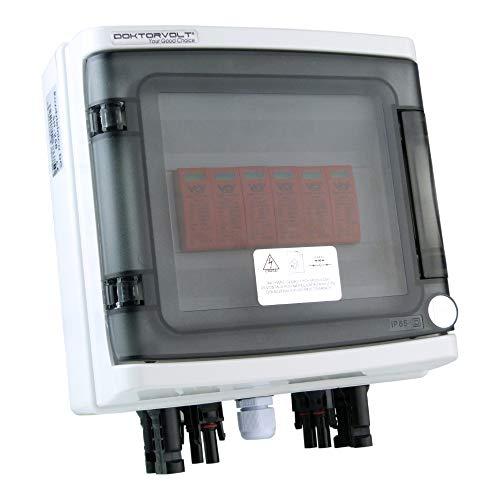 Solar Anschlusskasten Photovoltaik 1000V DC 2-strings Überspannungsschutz Typ 258 Doktorvolt 9474