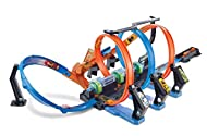Enormous corkscrew track with 3 loops, 3 crash zones and 3 high-speed boosters! Challenging, exciting, skill-based action with problem solving component. High-speed boosters power cars through the loops at top speeds. Kids try to launch cars into...
