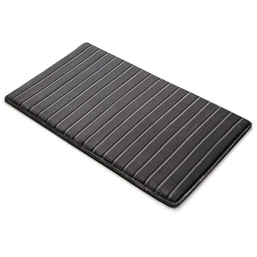 MICRODRY Extra-Thick, SoftLux, Charcoal Infused Memory Foam Bath Mat...