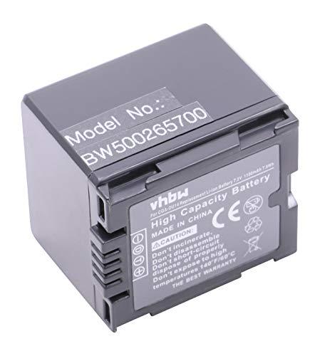 Batteria 1100mAh (7.2V) adatta per PANASONIC CGA-DU07   CGA-DU12   CGA-DU14   CGR-DU06   VW VBD070   VBD140 VW   VBD210 Hitachi DZ-BP07s   DZ BP14S
