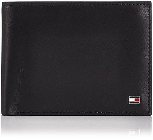 Tommy Hilfiger Herren ETON CC AND COIN POCKET Geldbörsen, Schwarz (BLACK 990), 13x10x2 cm