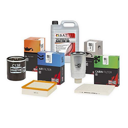 Inspektionspaket CHAMPION Inkl. 5L IGAT 5W30 Filter Set Öl Luft Pollenfilter SET P-C-05-00037 Service/Wartung