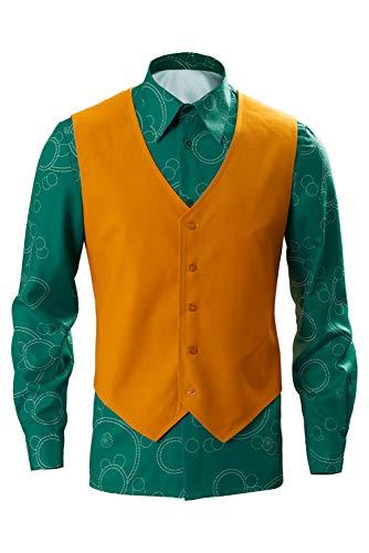 RedJade Clown Arthur Fleck Hemd mit Weste Cosplay Kostüm Grün Herren XL