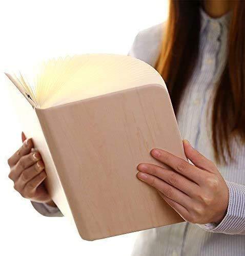 超人気ブックライトLEDベッドサイドランプ本型照明卓上ライト本型ライト折畳み式インテリア間接照明3色調光子供安全素材高級感漂うプレゼントUSB充電コード付き
