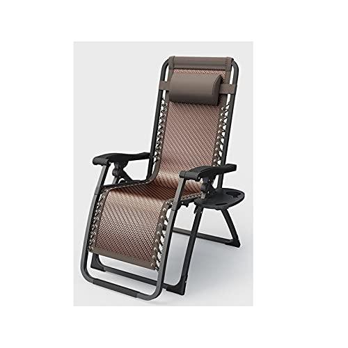 Tumbona sillas de jardín con soporte de taza y cojines para la cabeza, asiento reclinable plegable de gravedad cero, silla al aire libre, tumbona de patio, cojín de cabeza ajustable extraíble
