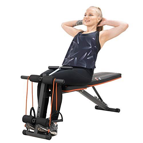 Banco de musculacion, banco abdominales, plegable, Equipo de fitness ajustable, para entrenamiento de cuerpo entero (S2)