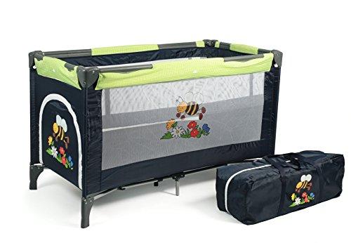CHIC 4 BABY 340 16 Reisebett Luxus mit Einhängeboden für Neugeborene und Tragetasche, bumblebee