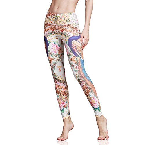 Doris Boutique FU - Hochwertige Mode gedruckte Yoga Workout Stretch Leggings Patterned Hosen (S, HK47)