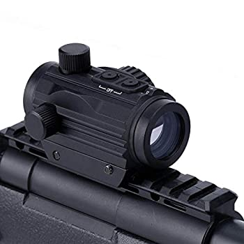 Aimsniper 1x22 Micro Rifle Scope Brightness Button Control Red Green Dot Sight Hunting Accessories Fits 20mm Weaver Rail Mount Waterproof and Shockproof