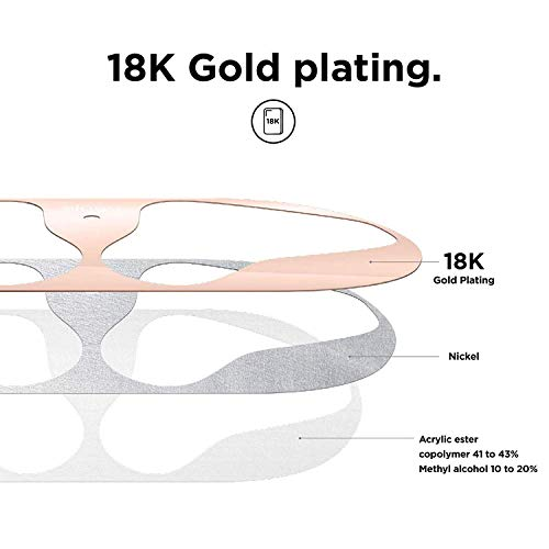 elago Dust Guard for AirPods - [18K Gold plating] [Protection from Iron/Metal Shavings] [Easy installation] (1 Set) - Rose Gold