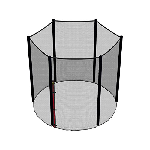 Ampel 24, Rete di Sicurezza per Trampolino Elastico da 3,05 m | Rete di Ricambio con 8 Pali | Antistrappo e Resistente ai Raggi UV | Rete Esterna