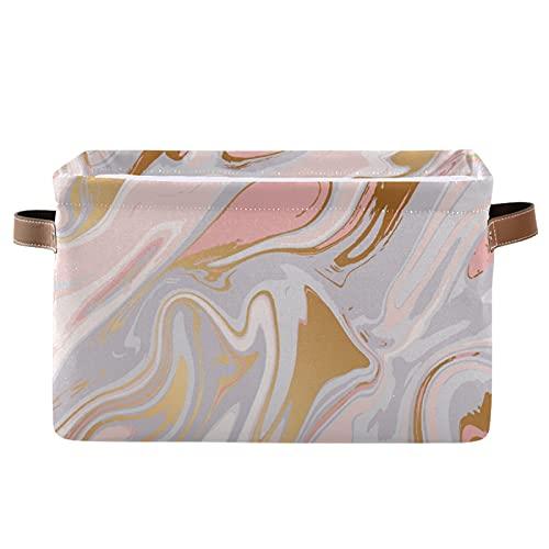 PUXUQU Abstrakt Flüssigkeit Marmor Druck Faltbare Aufbewahrungsbehälter Aufbewahrungsbox Aufbewahrungskorb mit Griff für Schrankregale Toy Office Nursery Bedroom