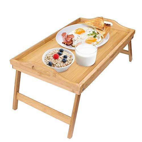 Mesas de centro Mesa Plegable Bambú Tabla del Cuaderno del Ordenador Móvil Cama De La Tabla Simple Mirador Tabla Tabla Tatami (Color : Wood Color, Size : 50 * 30 * 20cm)
