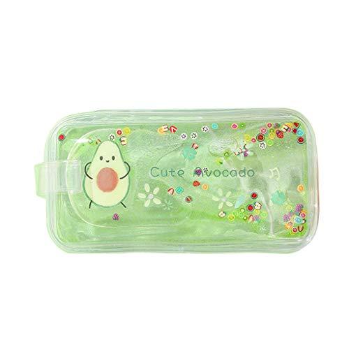 Qiuday Kosmetiktasche & Mäppchen – Make Up Bag Schminktasche, Kosmetik Reise Kulturbeutel & Federmäppchen Täschchen mit Reißverschluss Transparenter PVC-Briefpapierkastenstift