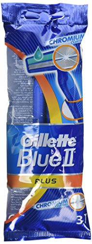 Gillette Blue II Plus desechables sensible cuchillas de afeitar – Pack de 24